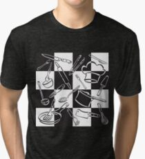 Kitchen Tools Check Tri-blend T-Shirt