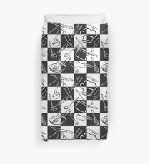 Kitchen Tools Check Duvet Cover