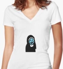 Jesus no. Women's Fitted V-Neck T-Shirt