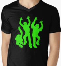 Crazy Neon Green Zombie Silhouettes T-Shirt