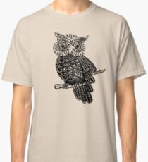 Cute Owl On Tree Classic T-Shirt