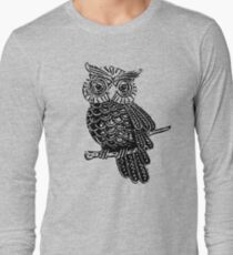 Cute Owl On Tree Long Sleeve T-Shirt