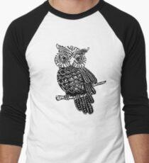 Cute Owl On Tree Men's Baseball ¾ T-Shirt