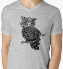 Cute Owl On Tree Men's V-Neck T-Shirt