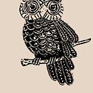 Cute Owl On Tree by Denis Marsili