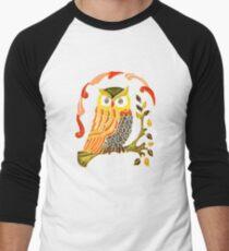 Lovely Cute Owl Men's Baseball ¾ T-Shirt