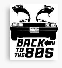 Back To The 80s Delorean  Canvas Print