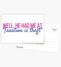 Taxation is Theft Postcards
