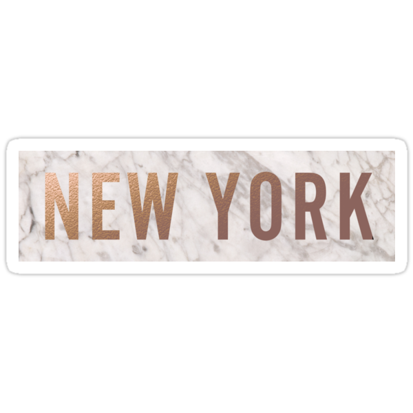 Quot Rose Gold And Marble New York Quot Stickers By Royal Sass