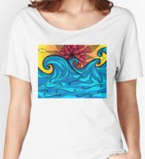 Aztec sun waves Women's Relaxed Fit T-Shirt