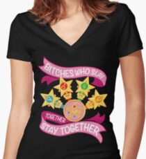 Slay Together, Stay Together - Sailor Scouts Women's Fitted V-Neck T-Shirt