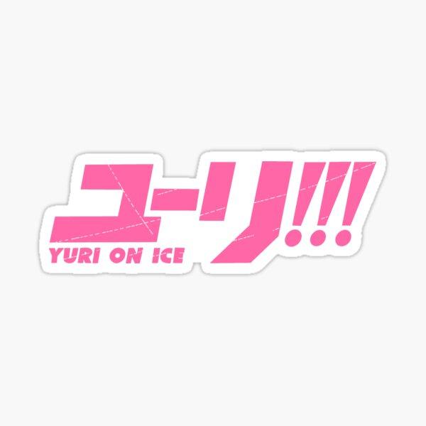 Yuri!!! On Ice - Pink Logo Sticker Pegatina