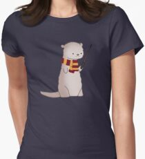 Harry Pawter Otter  Women's Fitted T-Shirt