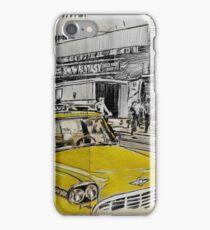 big yellow cab iPhone Case/Skin
