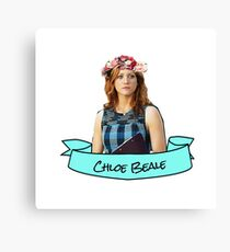 chloe beale flower crown sticker Canvas Print