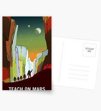 Weinlese unterrichten auf Mars-Einstellung Postkarten