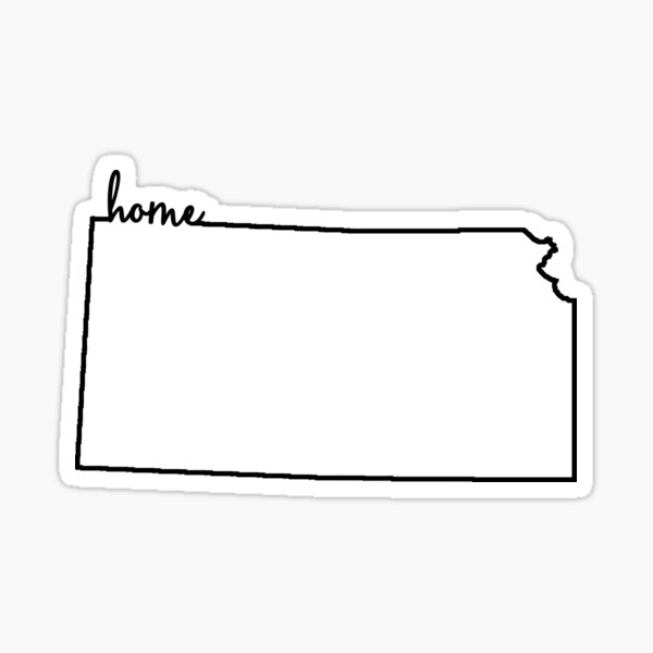 Kansas Home Outline Sticker