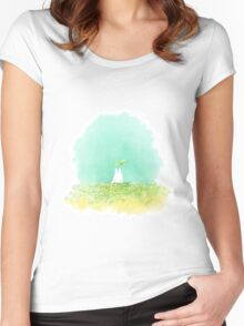 Small Totoro Women's Fitted Scoop T-Shirt
