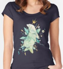 Polar bear king Women's Fitted Scoop T-Shirt
