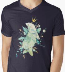 Polar bear king Men's V-Neck T-Shirt
