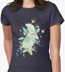 Polar bear king Womens Fitted T-Shirt