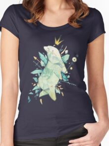 Polar bear king T-shirt femme moulant à col profond