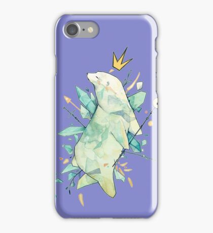 Polar bear king iPhone Case/Skin