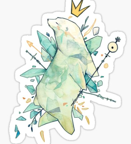 Polar bear king Sticker