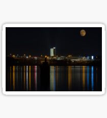 Night Life along the Potomac River  Sticker