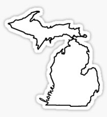 Michigan Home Outline Sticker