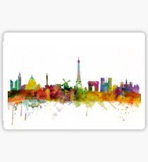 Paris France Skyline Cityscape Sticker