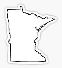 Minnesota Home Outline Sticker