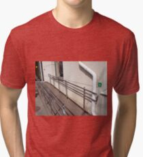 Ramp for physically challenged at the entrance Tri-blend T-Shirt