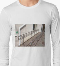 Ramp for physically challenged with metal railing Long Sleeve T-Shirt