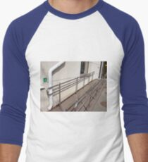 Ramp for physically challenged with metal railing Men's Baseball ¾ T-Shirt