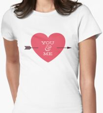 You And Me - Arrow Through Heart Womens Fitted T-Shirt