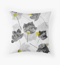 Leaves Abstract 1 Throw Pillow