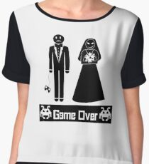 GAME OVER AFTER WEDDING MARRIAGE Chiffon Top