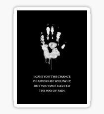 White Hand Sticker