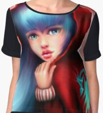 Red Riding Hood - Skater Girl in Forest Chiffon Top