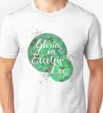 """Hand Painted Watercolor """"Gloria in Excelsis Deo"""" T-Shirt"""