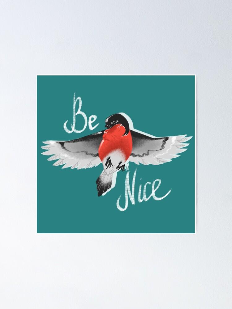 Alternate view of Bullfinch bird Poster