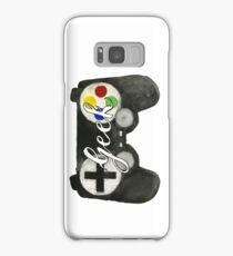 Hand Painted Watercolor Geek Game Controller Samsung Galaxy Case/Skin