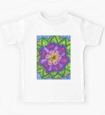 Floral Puzzle Mandala Kids Tee
