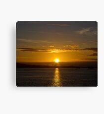 Inside Passage Sunset Canvas Print