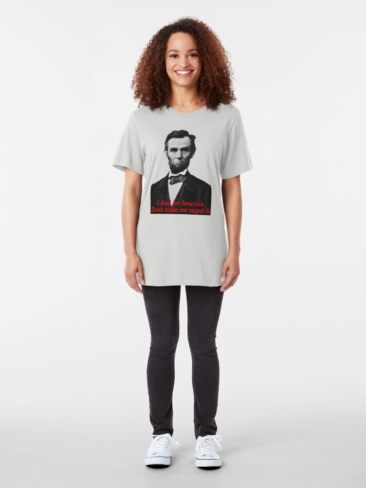 Alternate view of Abraham Lincoln's American Pride Slim Fit T-Shirt