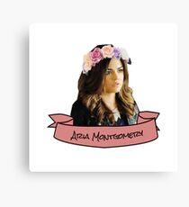 aria montgomery flower crown sticker Canvas Print