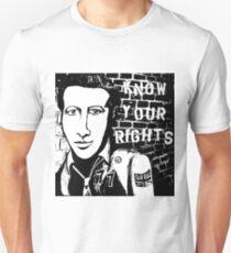 Know Your Rights Joe Strummer Portrait Unisex T-Shirt