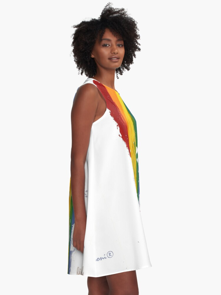 Alternate view of Pride Parade Rainbow Diversity by RD RIccoboni A-Line Dress