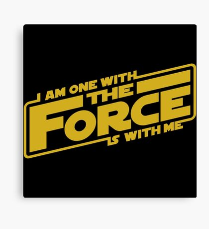 I am one with it Canvas Print